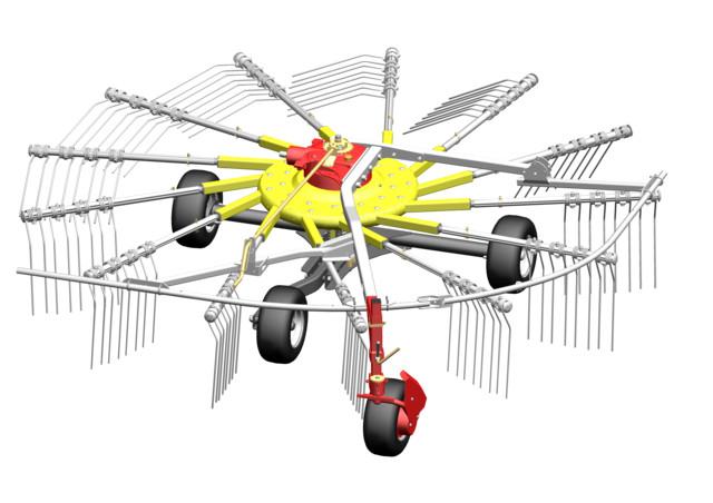 Tříkolový podvozek s čelním kopírovacím kolečkem | PÖTTINGER